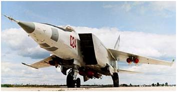 МиГ-25РБ с бомбами